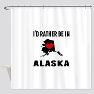 Id Rather Be In Alaska Shower Curtain