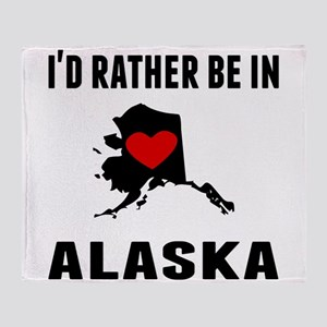 Id Rather Be In Alaska Throw Blanket
