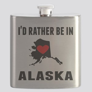 Id Rather Be In Alaska Flask