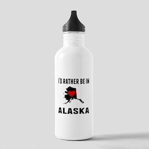 Id Rather Be In Alaska Water Bottle
