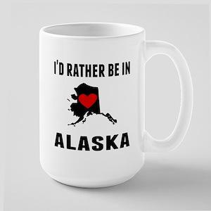 Id Rather Be In Alaska Mugs