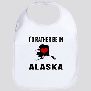 Id Rather Be In Alaska Bib
