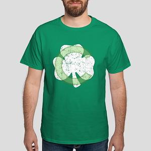 Chicago Irish Shamrock(vintag Dark T-Shirt