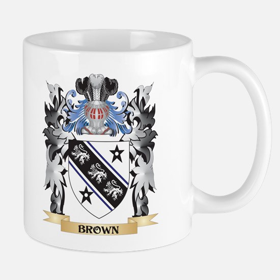 Brown Coat of Arms - Family Crest Mugs