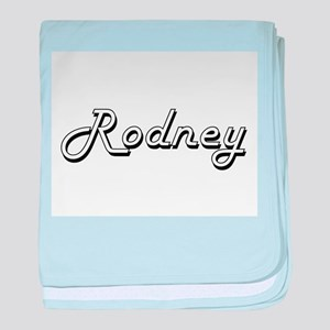 Rodney Classic Style Name baby blanket