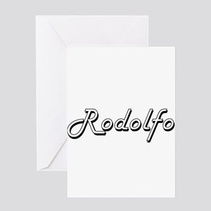 Rodolfo Classic Style Name Greeting Cards