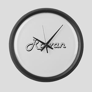 Rowan Classic Style Name Large Wall Clock