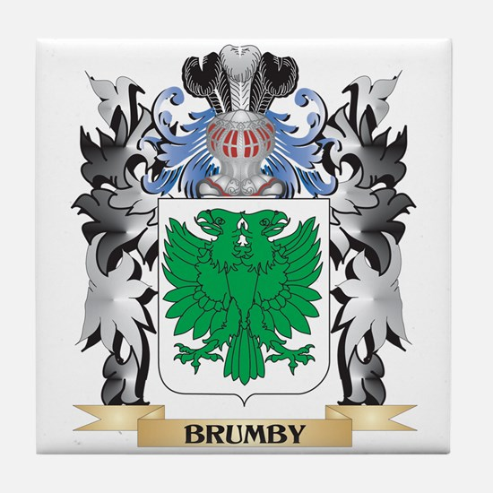 Brumby Coat of Arms - Family Crest Tile Coaster