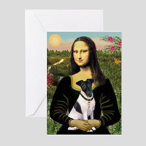 Mona Lisa (new) & Smooth Fox Terrier Greeting Card