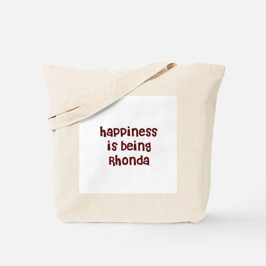 happiness is being Rhonda Tote Bag