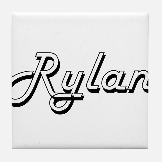 Rylan Classic Style Name Tile Coaster