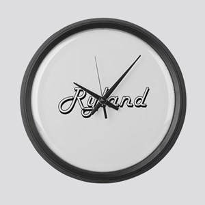 Ryland Classic Style Name Large Wall Clock