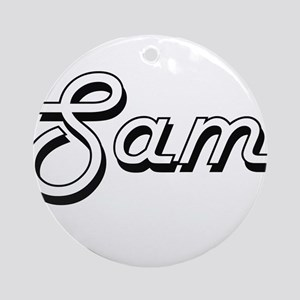 Sam Classic Style Name Ornament (Round)