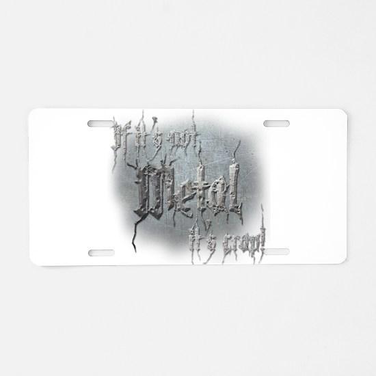 Metal 5 Aluminum License Plate