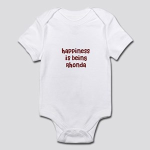 happiness is being Rhonda Infant Bodysuit