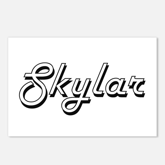 Skylar Classic Style Name Postcards (Package of 8)