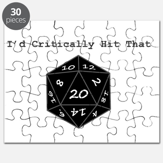 Id Critically Hit That - Black Puzzle