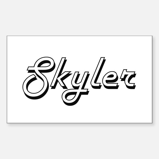 Skyler Classic Style Name Decal