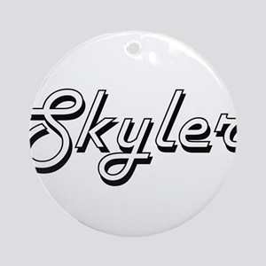 Skyler Classic Style Name Ornament (Round)