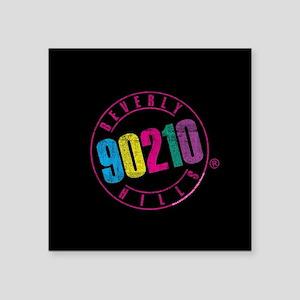 "Beverly Hills 90210 Logo Square Sticker 3"" x 3"""