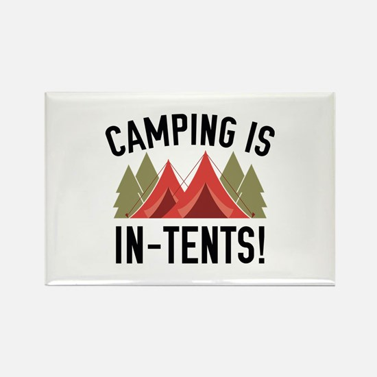 Camping Is In-Tents! Rectangle Magnet