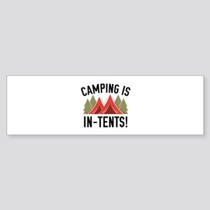 Camping Is In-Tents! Sticker (Bumper)
