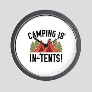 Camping Is In-Tents! Wall Clock