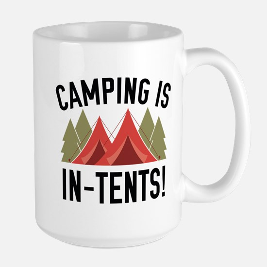 Camping Is In-Tents! Large Mug