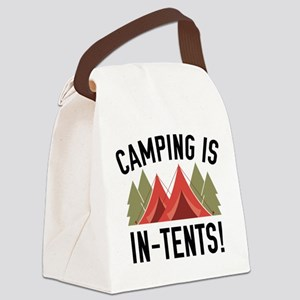 Camping Is In-Tents! Canvas Lunch Bag