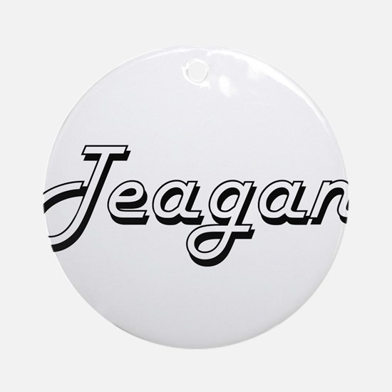 Teagan Classic Style Name Ornament (Round)
