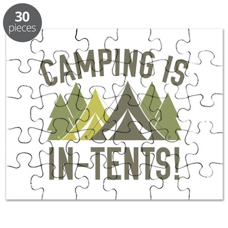 C&ing Is In-Tents! Puzzle  sc 1 st  CafePress : intense in tents - memphite.com