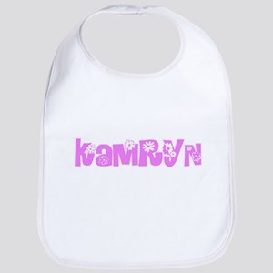 Kamryn Flower Design Baby Bib