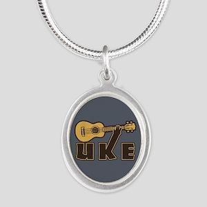 Uke Silver Oval Necklace