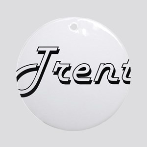 Trent Classic Style Name Ornament (Round)