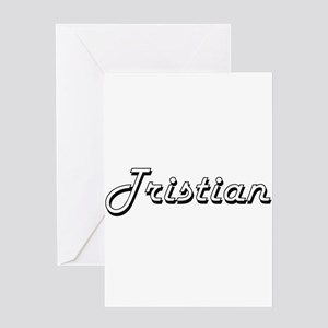 Tristian Classic Style Name Greeting Cards