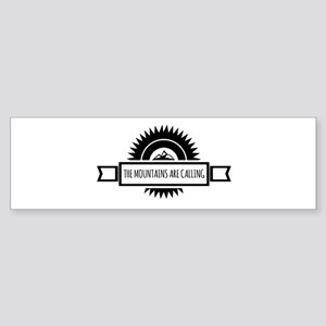 The Mountains are calling and i mus Bumper Sticker