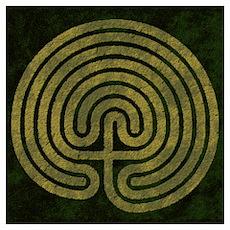 Labyrinth stone grass Poster