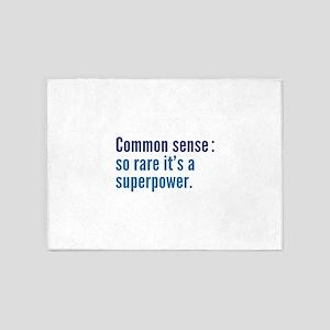 Common Sense 5'x7'Area Rug