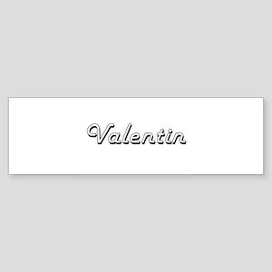 Valentin Classic Style Name Bumper Sticker