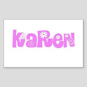 Karen Flower Design Sticker