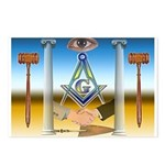 Masonic Scene - Brothers United Postcards (Package