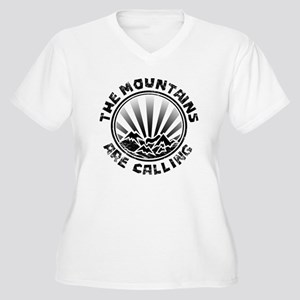 The Mountains are Calling. Plus Size T-Shirt