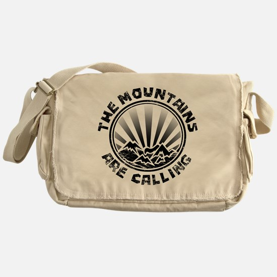 The Mountains are Calling. Messenger Bag