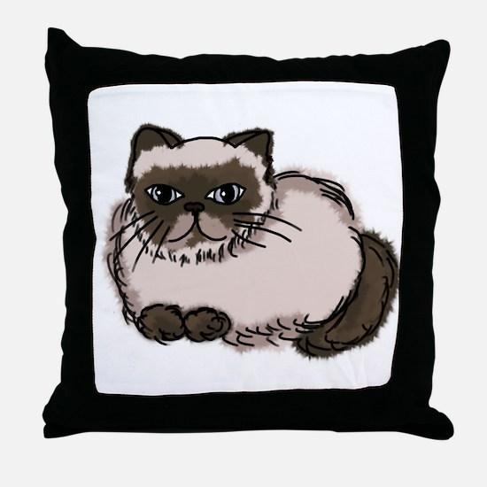 Himalayn Cat Lover Throw Pillow