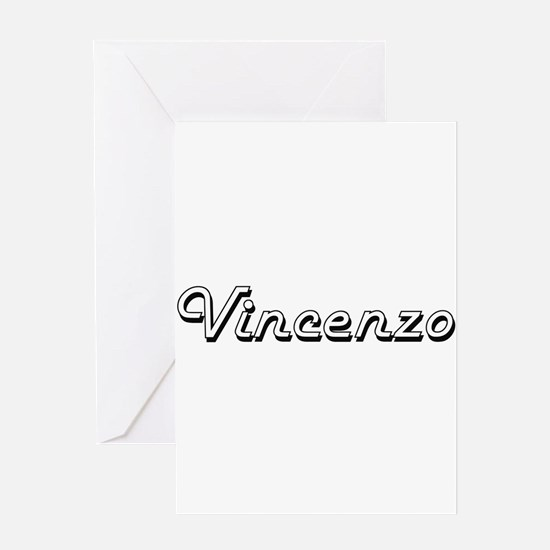 Vincenzo Classic Style Name Greeting Cards