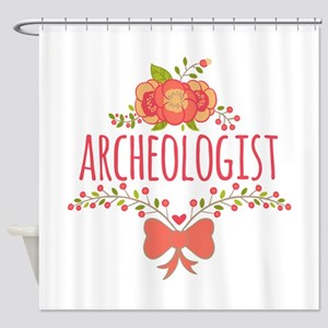 Cute Floral Gifts For Archeologist Shower Curtain