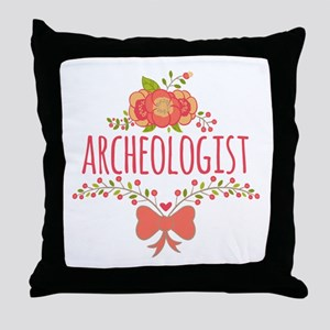 Cute Floral Gifts For Archeologist Throw Pillow