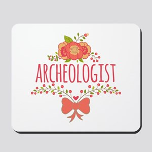 Cute Floral Gifts For Archeologist Mousepad