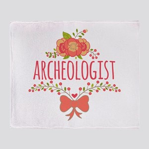Cute Floral Gifts For Archeologist Throw Blanket