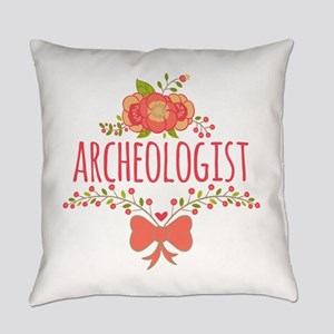 Cute Floral Gifts For Archeologist Everyday Pillow